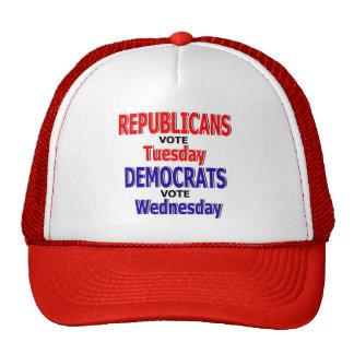Gorra republicano divertido de martes del voto