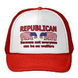 Gorra republicano rojo de Covention