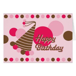 Gorra retro del fiesta - tarjeta de cumpleaños