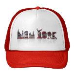 Gorra rojo/blanco del camionero de Nueva York