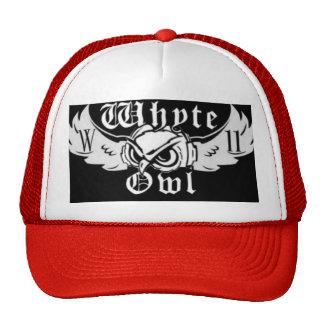 Gorra rojo/blanco del logotipo del búho de Whyte d