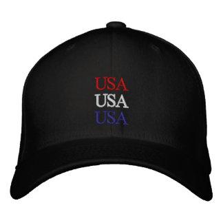 Gorra rojo, blanco, y azul de los E.E.U.U. Gorros Bordados