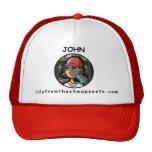 Gorra rojo de Juan