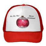 Gorra rojo de la bola del navidad