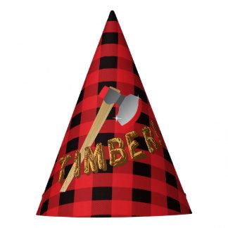 Gorra rojo de la fiesta de cumpleaños de la tela gorro de fiesta