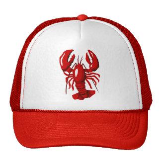 Gorra rojo de la malla de la langosta