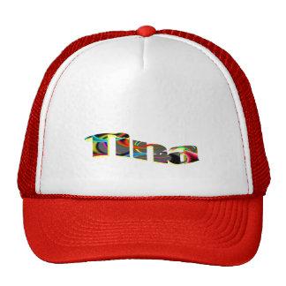 Gorra rojo de la malla de Tina
