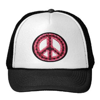 gorra rojo de la paz