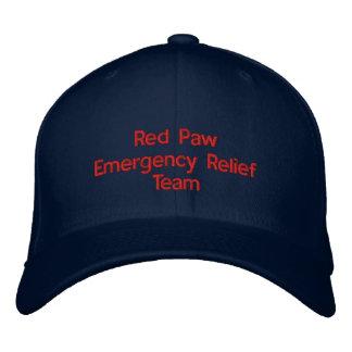 Gorra rojo de la respuesta de la pata gorra bordada