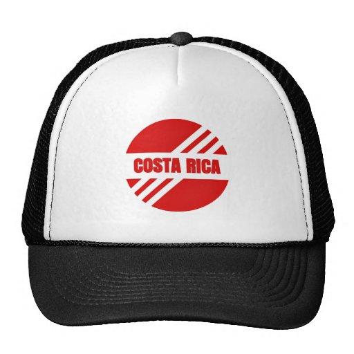 Gorra rojo de la zambullida de Costa Rica