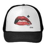 Gorra rojo de los labios CNK