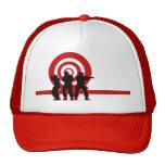 Gorra rojo de los militares de la blanco
