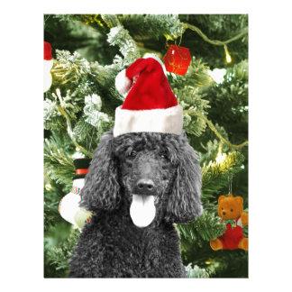 Gorra rojo de Santa del muñeco de nieve del árbol Plantillas De Membrete