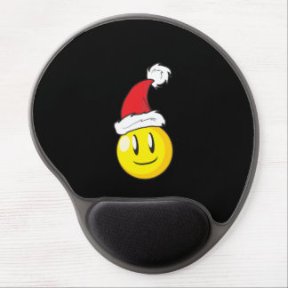 Gorra rojo de Santa del navidad amarillo feliz de Alfombrillas De Ratón Con Gel