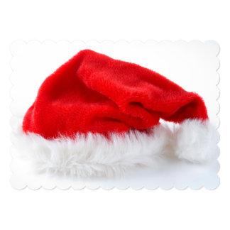 """Gorra rojo de Santa Invitación 5"""" X 7"""""""