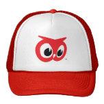 Gorra rojo del búho - gorra rojo del camionero del