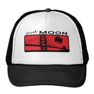 Gorra rojo del camionero de la luna