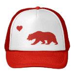 Gorra rojo del camionero del amor de California