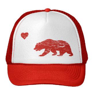 Gorra rojo del camionero del amor de California de