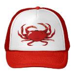 Gorra rojo del cangrejo
