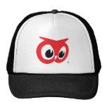 Gorra rojo del colmado del búho - estilo del camio