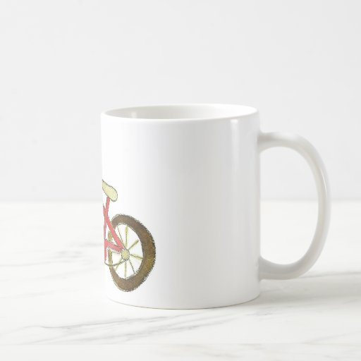 Gorra rojo del cumpleaños de la bicicleta taza