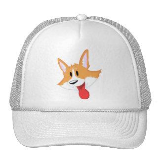 Gorra rojo del dibujo animado del Corgi Galés del