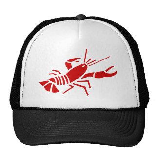Gorra rojo del trucket de la langosta