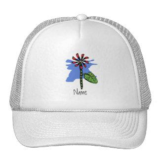 Gorra rojo divertido de la flor