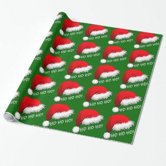Gorra rojo HOHOHO de Papá Noel de la diversión Papel De Regalo