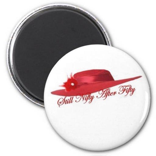 gorra rojo imán de nevera