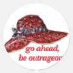 gorra rojo pegatina redonda