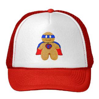 gorra rojo y azul del superhéroe del hombre de pan