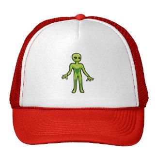 gorra rojo y blanco con el alein en el frente