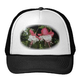 Gorra rojo y blanco de Fuscia