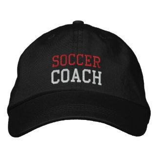 Gorra rojo y blanco del coche del fútbol del texto gorras de beisbol bordadas