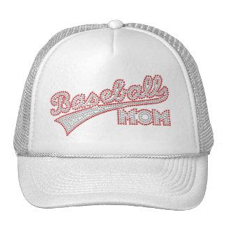 Gorra rojo y gris de la mamá del béisbol
