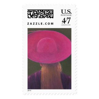 Gorra rosado 2014 sello postal