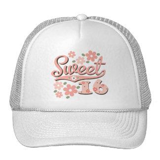 Gorra rosado bonito del dulce 16 del pétalo