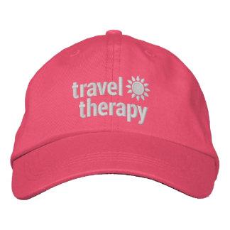 Gorra rosado bordado terapia del viaje gorra de béisbol