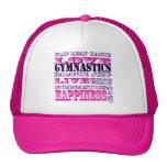 Gorra rosado de la gimnasia del amor
