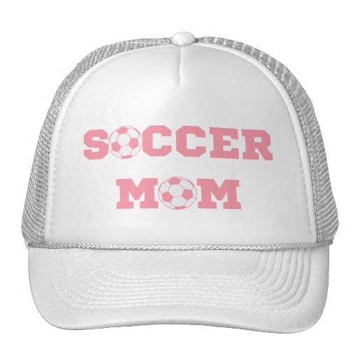 Gorra rosado de la mamá del fútbol