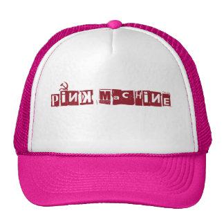 gorra rosado de la máquina