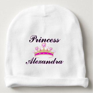 Gorra rosado de la niña de princesa Personalized Gorrito Para Bebe