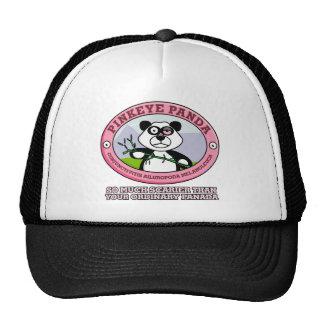 Gorra rosado de la panda del ojo