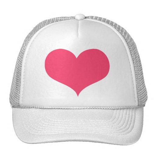 Gorra rosado de los corazones
