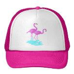 Gorra rosado de los flamencos