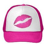Gorra rosado de los labios
