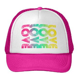 Gorra rosado de neón del camionero del amor