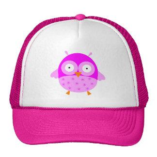 Gorra rosado del búho